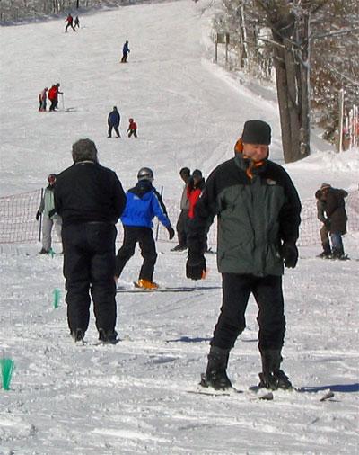 Marc on skis